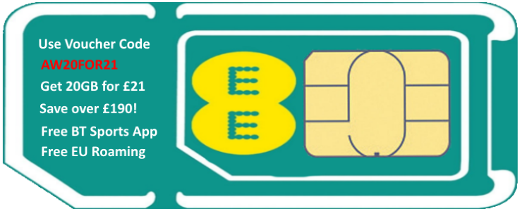 Special Sim Card - Use Voucher Code - AW20FOR21